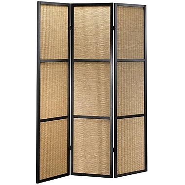 Adesso® WK3804-01 Haiku Folding Screen, Black/Khaki