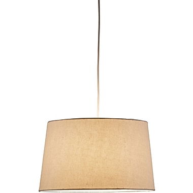 Adesso® 4002-12 Harvest Tapered Drum Pendant, 1 x 150 W, Natural