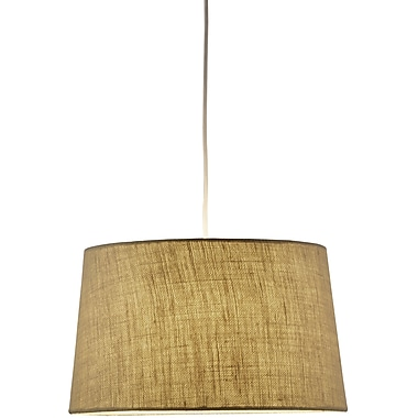 Adesso® 4002-18 Harvest Tapered Drum Pendant, 1 x 150 W, Burlap