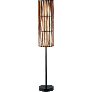 Adesso® 4025-26 Maui Floor Lamp, 2 x 60 W, Antique Bronze