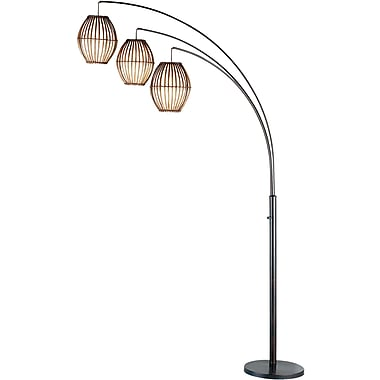 Adesso® 4026-26 Maui Arc Lamp, 3 x 60 W, Antique Bronze