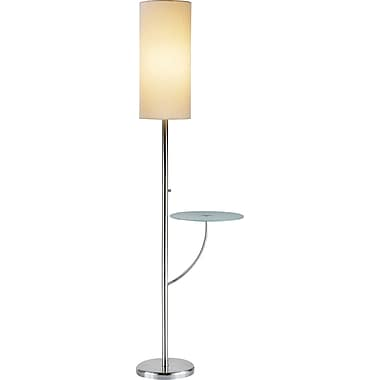 Adesso® 4033-22 Concierge Floor Lamp, 1 x 150 W, Satin Steel
