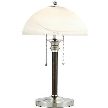 Adesso® 4050-15 Lexington Table Lamp, 2 x 60 W, Walnut