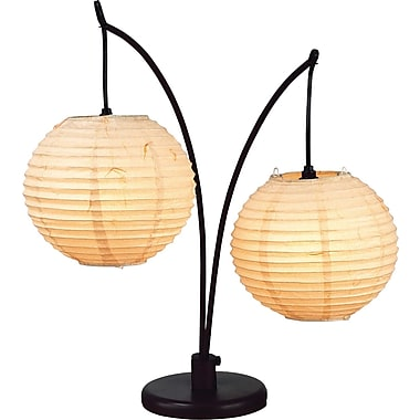 Adesso® 4100-26 Spheres Table Lamp, 2 x 60 W, Antique bronze