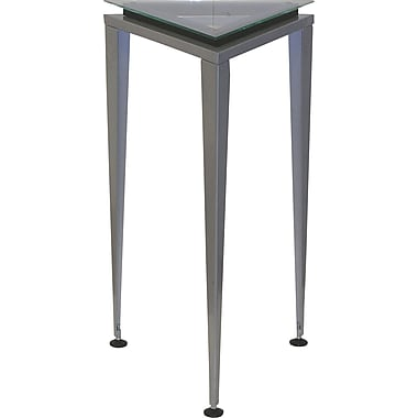 Adesso® WK5108M-01 Reflections Medium Pedestal Table, Black/Metal