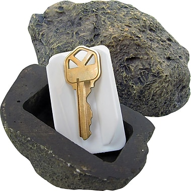 Trademark Global Hide a Key - Realistic Rock Outdoor Key Holder, 2 1/4in. x 3 1/2in. x 1 1/2in.