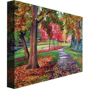 "Trademark Global David Lloyd Glover ""September Park"" Canvas Art, 24"" x 32"""