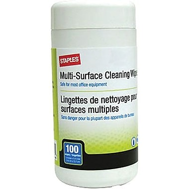 Staples® - Lingettes de nettoyage à usages multiples