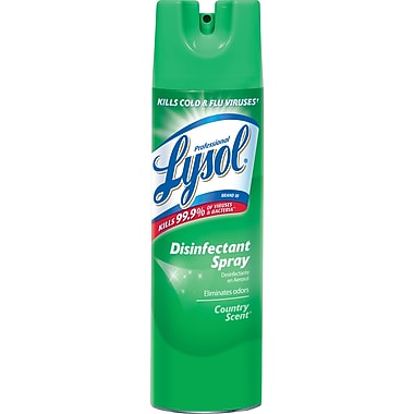Professional Lysol® Disinfectant Spray, Country Scent, 19 oz. Aerosol Can, 12/Ctn