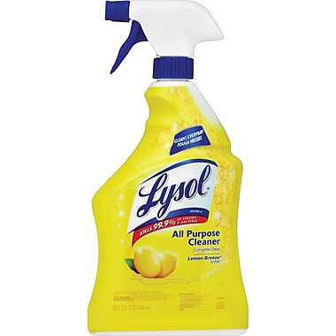Lysol® All-Purpose Cleaner, Lemon, 32 oz. Spray Bottle, 12/Ctn