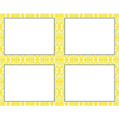 Great Papers® Fresh Slate Damask 4-up Postcards, 80/Pack