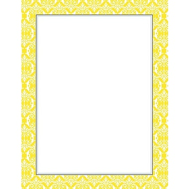 Fresh Slate Damask Designer Stationery, 40/Pack