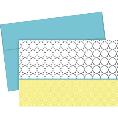 Fresh Slate Trellis Designer Note Cards with Envelopes, 20/Pack