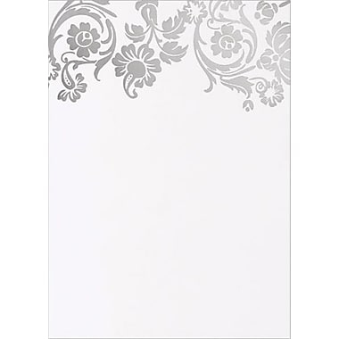 Silver Damask Foil Flat Cards with Envelopes, 10/Pack