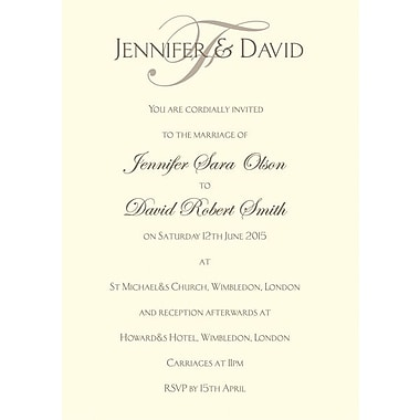 Great Papers® Ivory Flat Card Invitations with Envelopes, 100/Pack