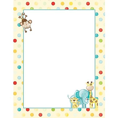 Great Papers® Baby Zoo Animals Letterhead, 100/Pack