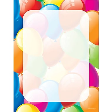 Great Papers® Balloon Border Letterhead, 100/Pack