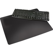 "Artistic™ Rhinolin® II Ultra-Smooth Desk Pad with Microban®, Black, 17"" x 24"""