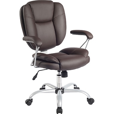 RTA Products  Techni Mobili Plush Task Chair, Chocolate
