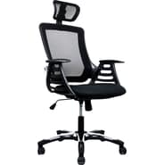 RTA Products Techni Mobili High Back Mesh Chair, Black