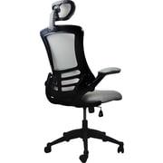 TechniMobili Mesh Computer and Desk Office Chair, Fixed Arms, Silver/Gray (RTA-80X5-SG)