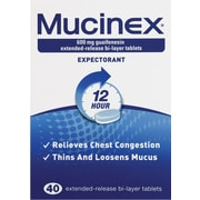 Mucinex® Tablets, 40 Tablets/Box