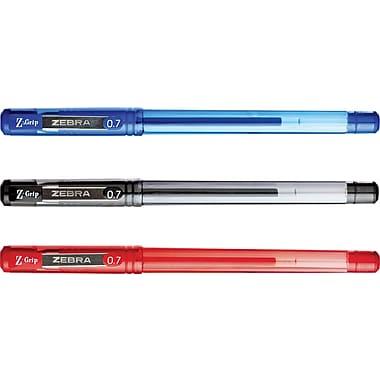 Zebra® – Stylos Z-Grip Gel Stick, 0,7 mm, paq./12