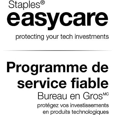 Staples® easycare 1-Year Service Plan for Laptops and Netbooks $0 - $249.99