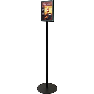 Deflecto Magazine Size Double-Sided Magnetic Sign Display