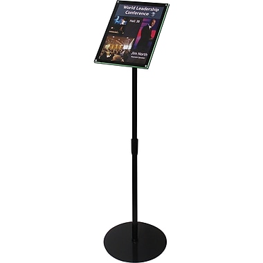 Deflecto Telescoping Sign Display, 13in. x 13in.