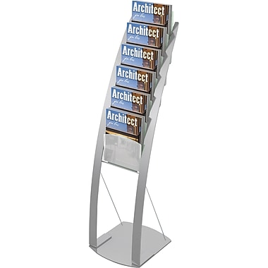 Deflecto Magazine Size Contemporary Floor Display, 13in. x 49in.