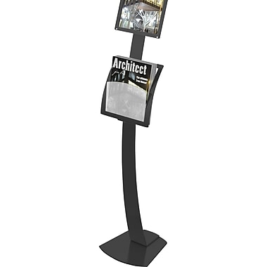 Deflecto Add-On Pocket for Contemporary Sign Stand, Black