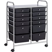 Whalen® Rolling Storage Organizer, 12 Drawer Cart