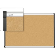Staples Cork Bulletin Board, Aluminum Frame, 3' x 2'