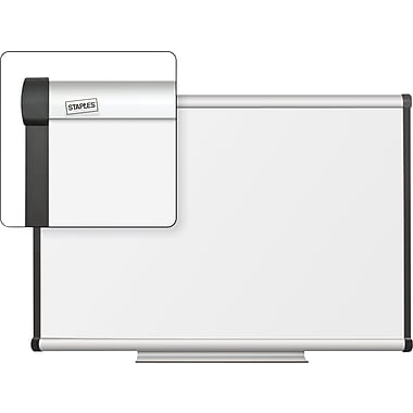 Staples Dry-Erase Board with Aluminum Frame, 3' x 2'