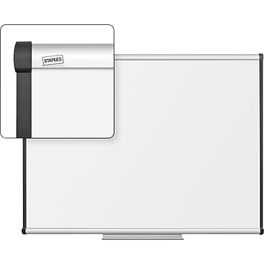 Staples Dry-Erase Board with Aluminum Frame, 4' x 3'