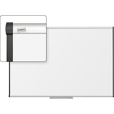 Staples Dry-Erase Board with Aluminum Frame, 6' x 4'