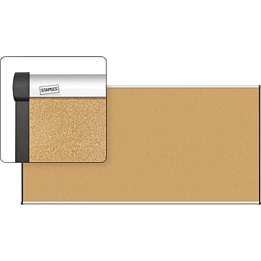 Staples Cork Bulletin Board with Aluminum Frame, 8' x 4'