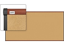 Staples® Cork Bulletin Board with Cherry Finish Frame