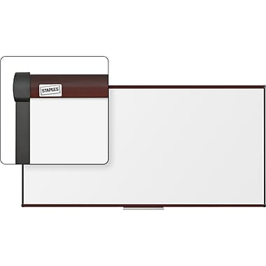 Staples Dry-Erase Board with Mahogany Frame