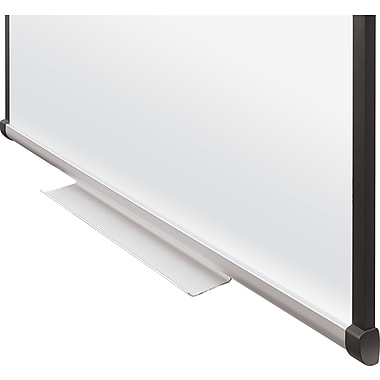 Staples 4'x4' Dry-Erase Whiteboard with Tray, Cherry Frame (23670-CC)