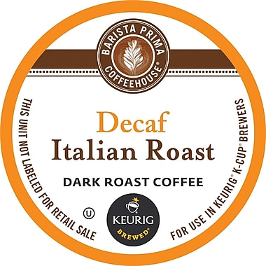 Keurig® K-Cup® Barista Prima Italian Roast Decaf Coffee, Decaffeinated, 24/Pack