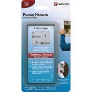 VELCRO® Brand Removable Picture Hangers, 1lb, 8 Sets