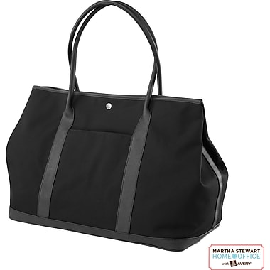 Martha Stewart Home Office with Avery Large Tote, Black, 20in. x 14in. x 10in.