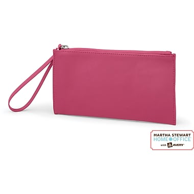 Martha Stewart Home Office with Avery Wristlet, Raspberry, 8 1/2in. x 4 1/2in.
