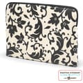 Martha Stewart Home Office with Avery Laptop Sleeve, Black Damask, 16in. x  11 1/2in. x 1in.