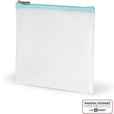 Martha Stewart Home Office with Avery Accessory Pouch, Clear, 7 1/2in. x 8in.