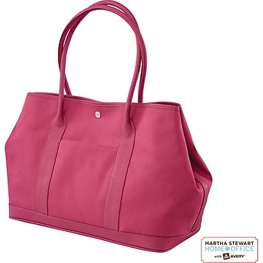 Martha Stewart Home Office with Avery Small Tote, Raspberry, 17in. x 12in. x 7 3/4in.