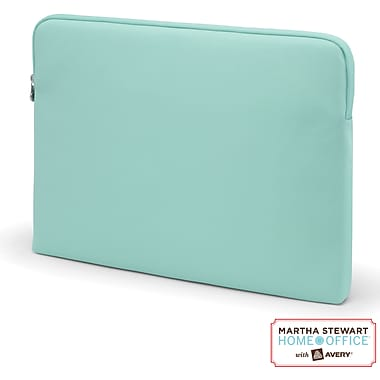 Martha Stewart Home Office with Avery Laptop Sleeve, Blue, 16in. x 11 1/2in. x 1in.