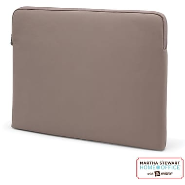 Martha Stewart Home Office with Avery Laptop Sleeve, Walnut, 17 1/4in. x 13 1/2in. x 1in.